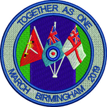 March Birmingham 2019 Together as one Embroidered Badge